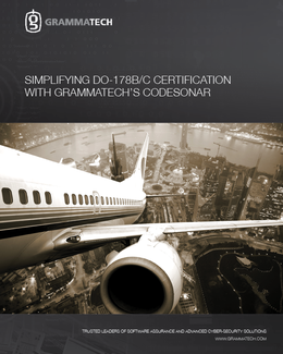 Simplifying DO-178B and DO-178C Certification with CodeSonar
